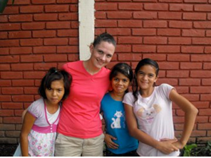 Jennifer with the orphans